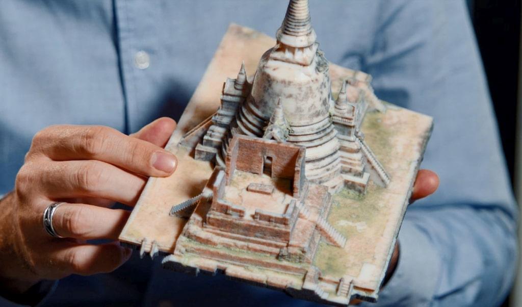 Modell des Ayutthaya-Tempels in Thailand wurde für das Google Arts & Culture-Projekt