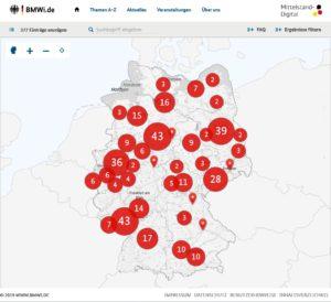 interaktive Karte auf www.mittelstand-digital.de