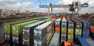 Container im Hafen Mannheim