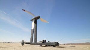 Weltrekord für windgetriebene Fahrzeuge